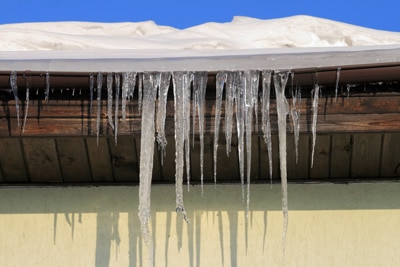 Ice dams on roofs